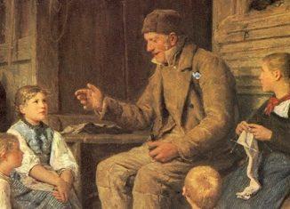 Der Grossvater erzählt eine Geschichte