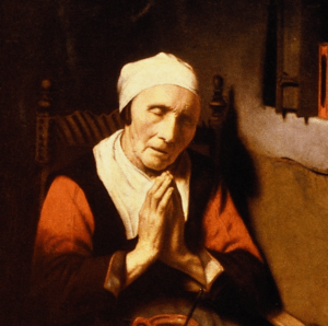 An Old Woman at Prayer