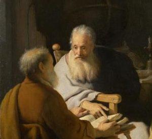 Two Old Men Disputing