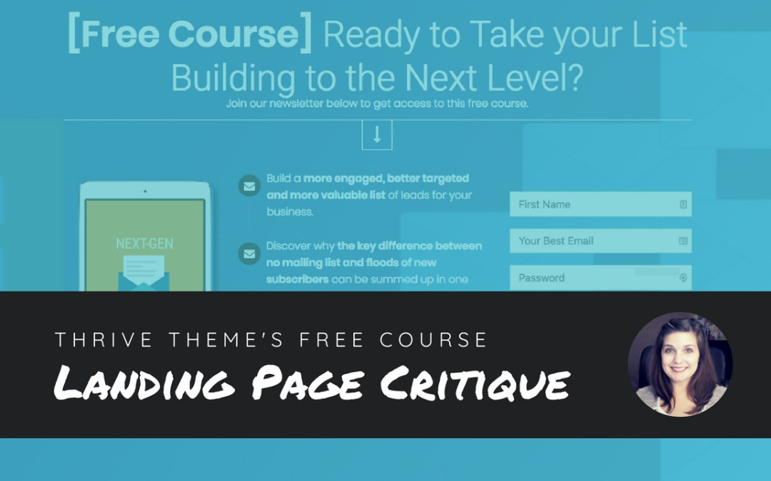 Landing Page Critique: Thrive Theme's Free Course