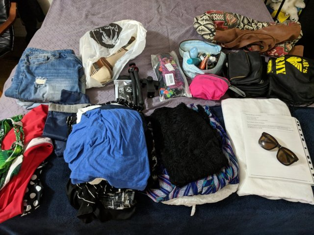 All the things going into the carry-on