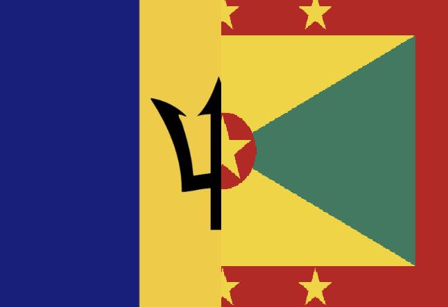 Barbados Grenada Flag