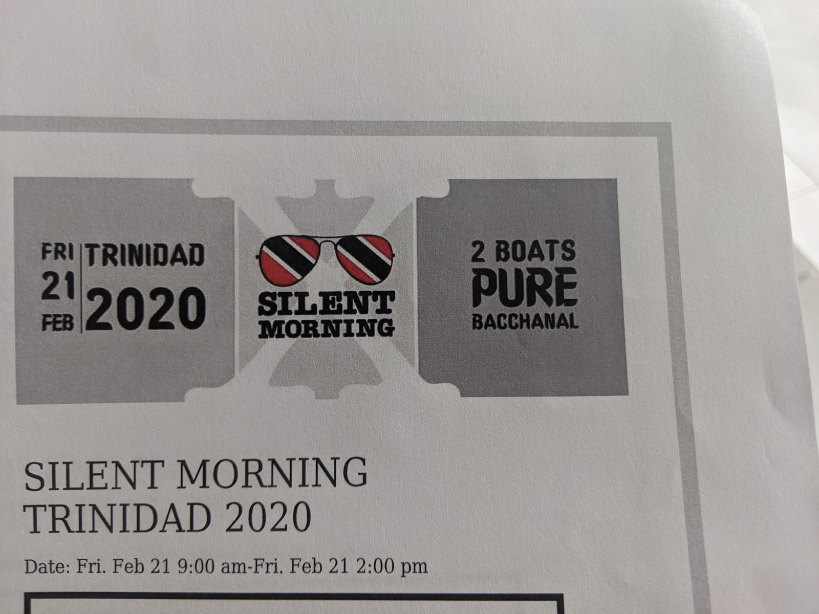 Silent Morning Trinidad 2020