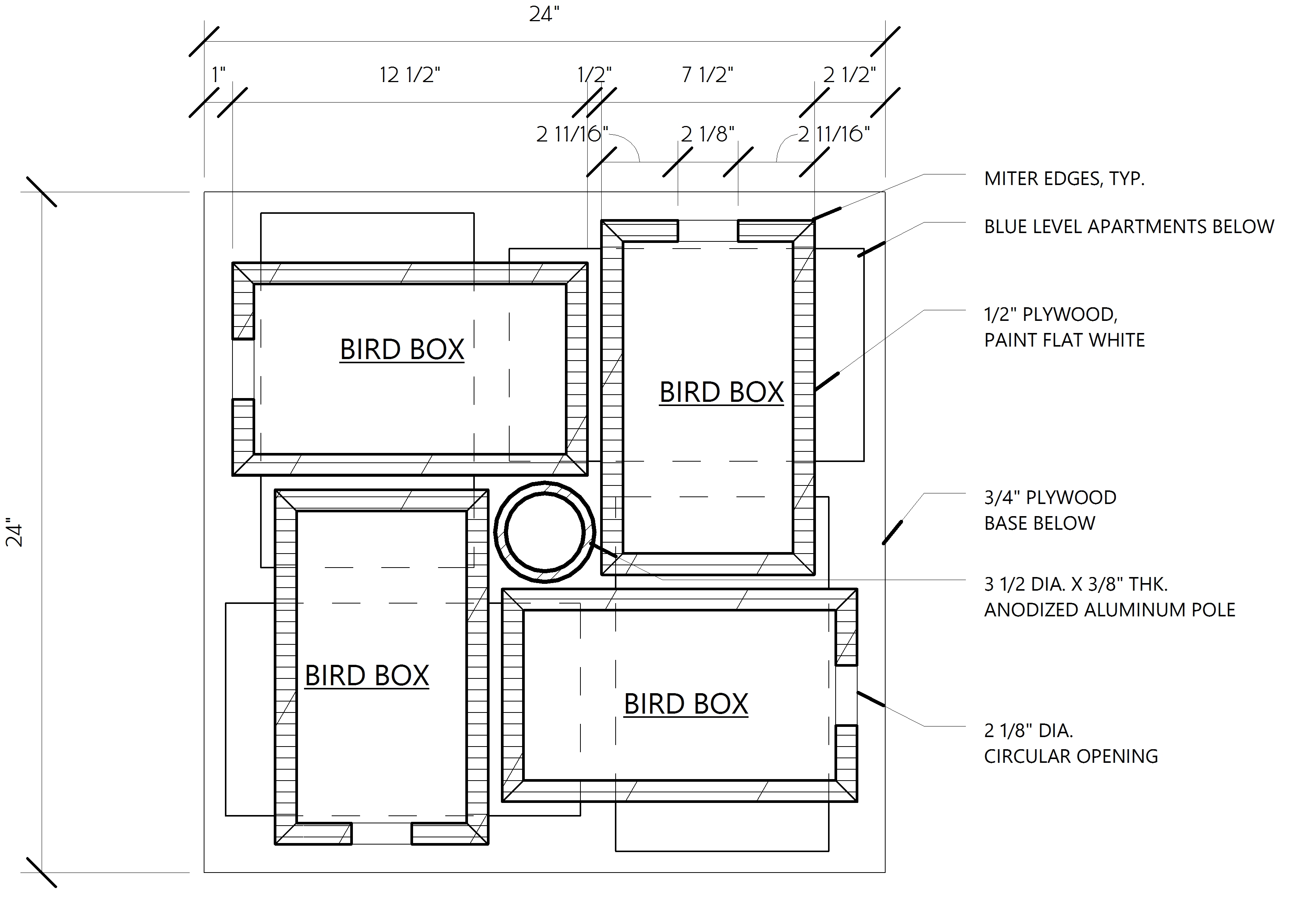 My Project: Free access Modern birdhouse plans