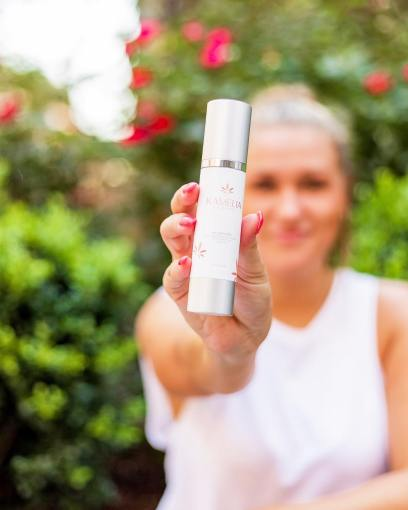 Example of a product photo from a modeling photoshoot showing an in focus product and an out of focus background.
