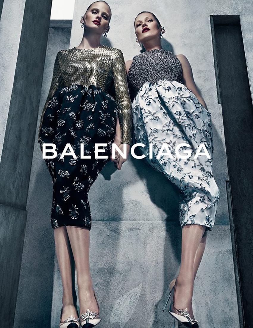 Balenciaga Kate Moss and Lara Stone fall 2015 ad campaign photo