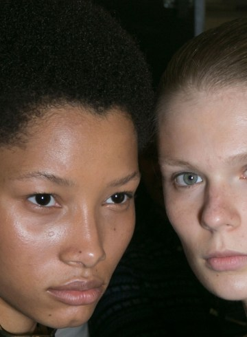 JW Anderson Spring 2016 fashion show backstage beauty photo