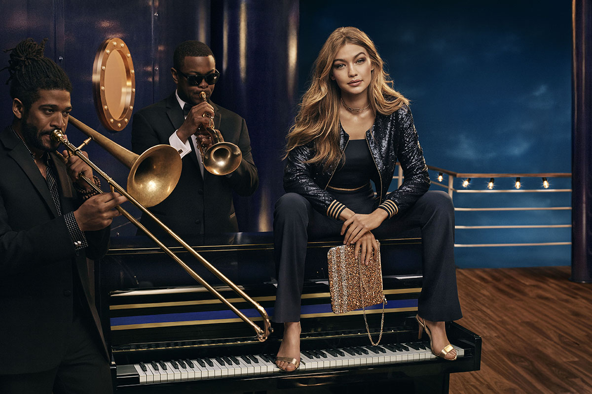 Gigi Hadid stars in Tommy Hilfiger's holiday campaign.
