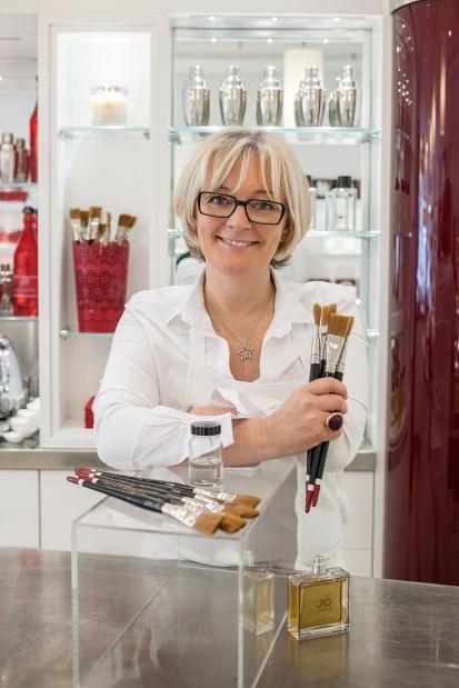 Jo Malone at her fragrance Tapas Shop