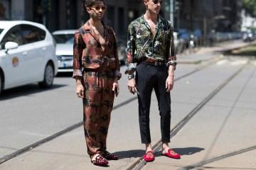 Milan Fashion Week Men's Street Style Spring 2018 Day 1