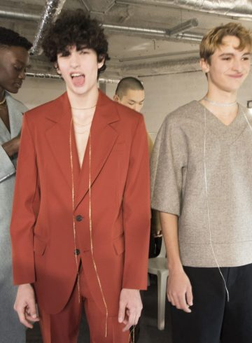 Acne Studios Fall 2018 Men's Fashion Show Backstage