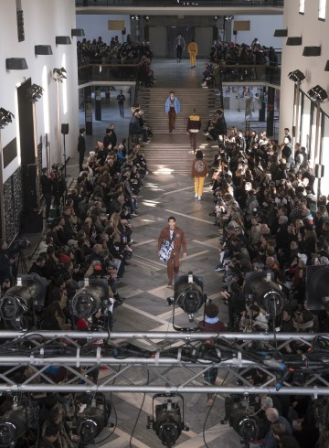 MSGM Fall 2018 Men's Fashion Show Atmosphere