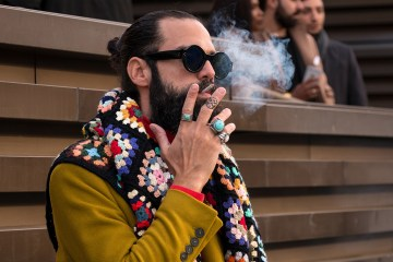 Pitti Uomo Fashion Week Men's Street Style Fall 2018 Poli Alexeeva