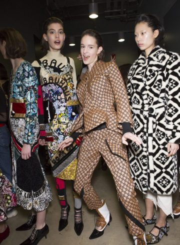 Mary Katrantzou Fall 2018 Fashion Show Backstage