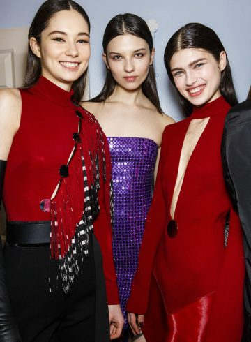 David Koma Fall 2018 Fashion Show Backstage