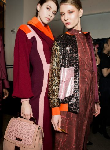 Marcel Ostertag Fall 2018 Fashion Show Backstage