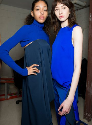 Milly Fall 2018 Fashion Show Backstage