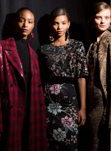 Badgley Mischka Fall 2018 Fashion Show Backstage