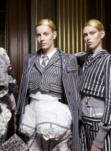 Thom Browne Fall 2018 Fashion Show Backstage