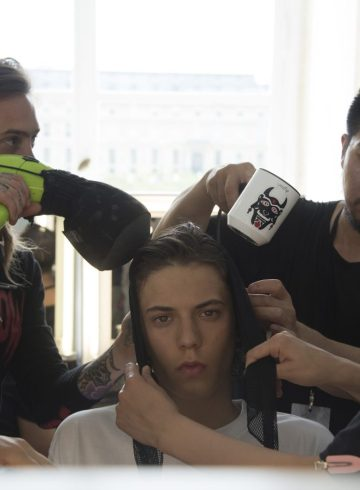Y-3 Spring 2019 Men's Fashion Show Backstage Beauty