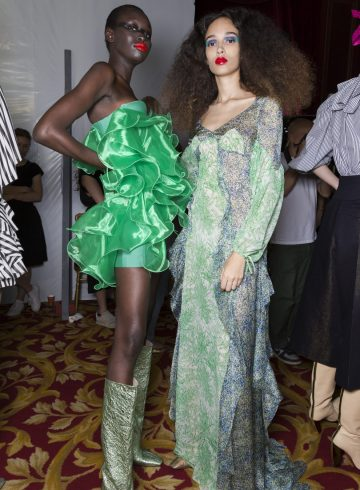 Ronald Van Der Kemp Fall 2018 Couture Fashion Show Backstage