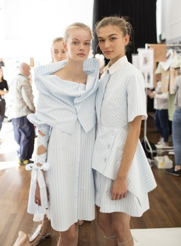 Delpozo Spring 2019 Fashion Show Backstage