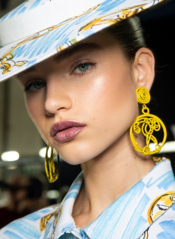 Moschino Spring 2019 Fashion Show Backstage Beauty