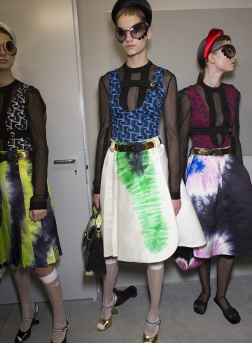 Prada Spring 2019 Fashion Show Backstage