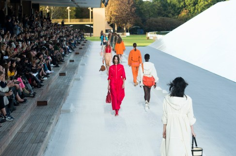 Hermes Spring 2019 Fashion Show Atmosphere