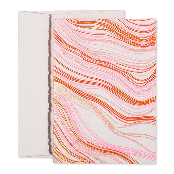 Accompany Us to Target wood grain printed note cards, made in India