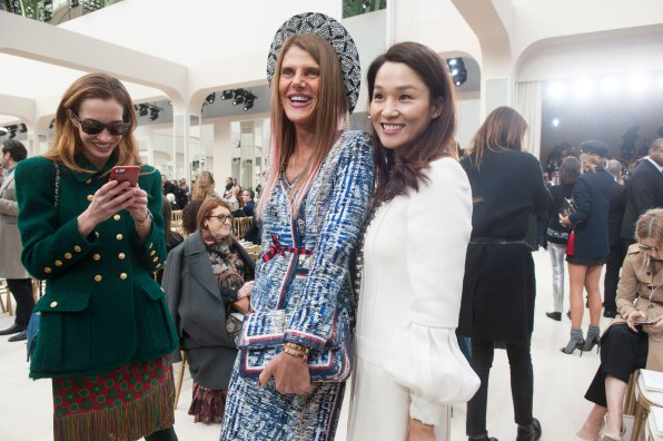 Anna Dello Russo at Chanel