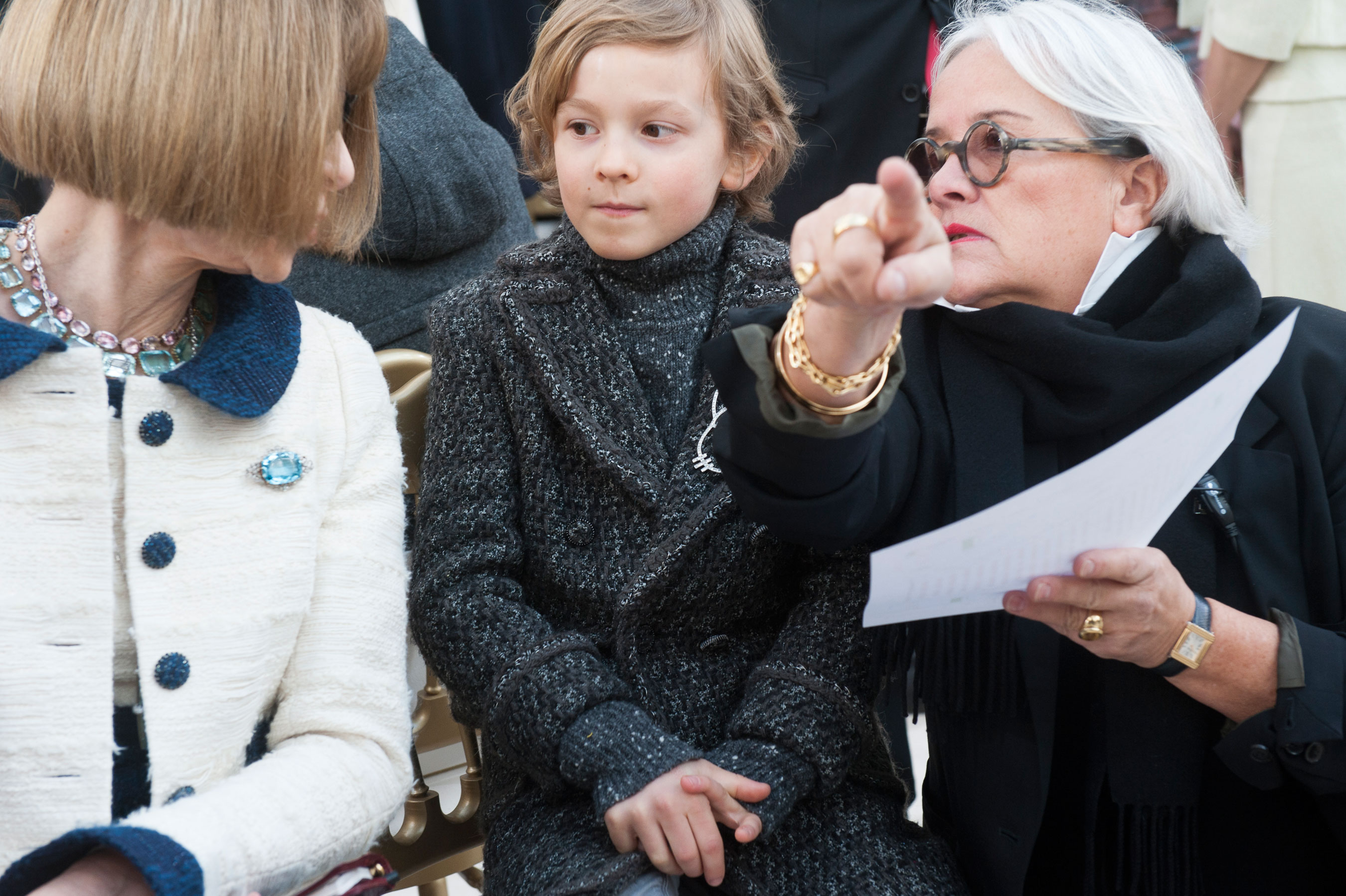 Anna Wintour & Hudson Kroenig at Chanel