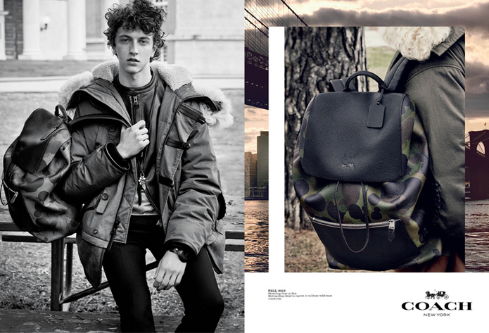Coach Men's Fall 2015 ad campaign Fabien Baron Steven Meisel photo
