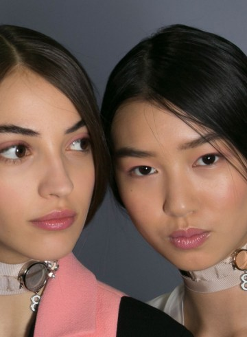 Dior backstage beauty fashion show spring 2016 photo
