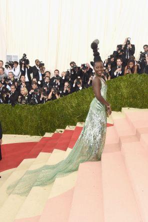Lupita Nyong'o in Calvin Klein