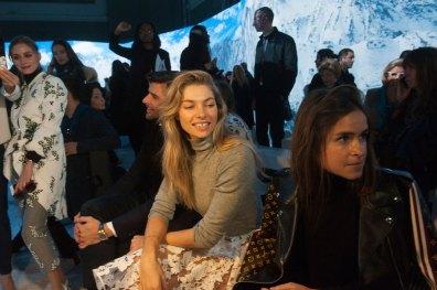 Jessica Hart & Mira Duma at Moncler