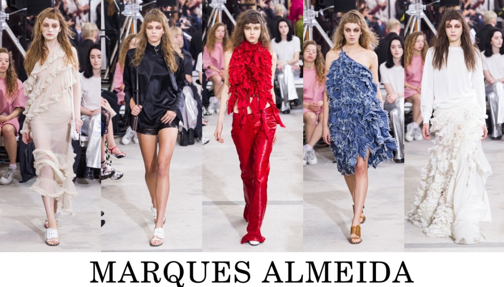 Marques Almeida Top 10 others spring 2016 fashion show photo