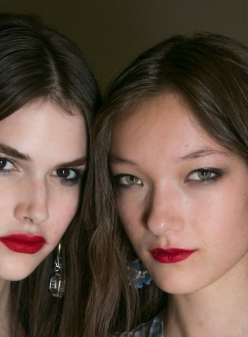 Topshop Spring 2016 Fashion Show Beauty backstage Photo