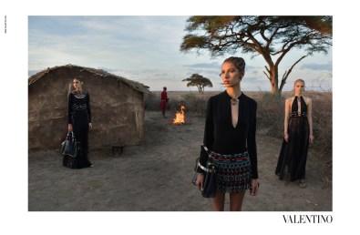 Valentino Spring 2016 Campaign shot in Amboseli Park in Kenya.