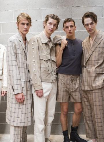Dirk Bikkembergs Spring 2018 Men's Fashion Show Backstage