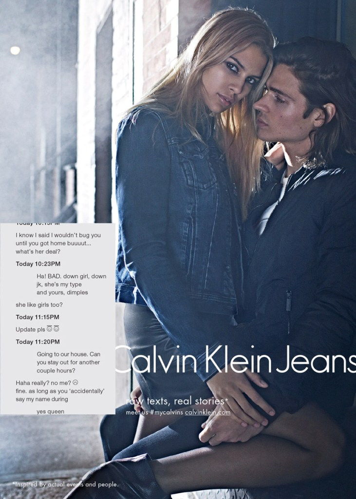 Calvin Klein Jeans fall 2015 ad campaign photo