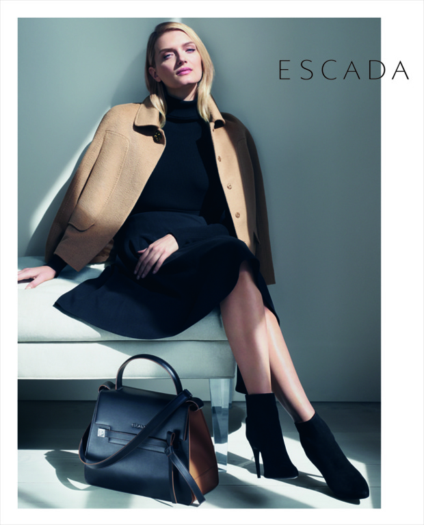 Escada Lily Donaldson by Daniel Jackson fall 2015 ad photo ...