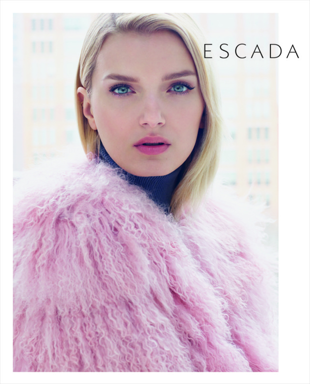 Escada Lily Donaldson by Daniel Jackson fall 2015 ad photo