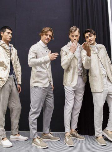 Giorgio Armani Spring 2018 Men's Fashion Show Backstage