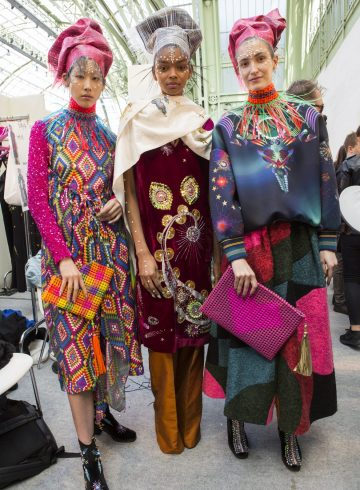Manish Arora Fall 2017 Fashion Show Backstage