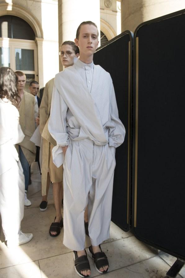 Hed Mayner Spring 2018 Men's Fashion Show Backstage