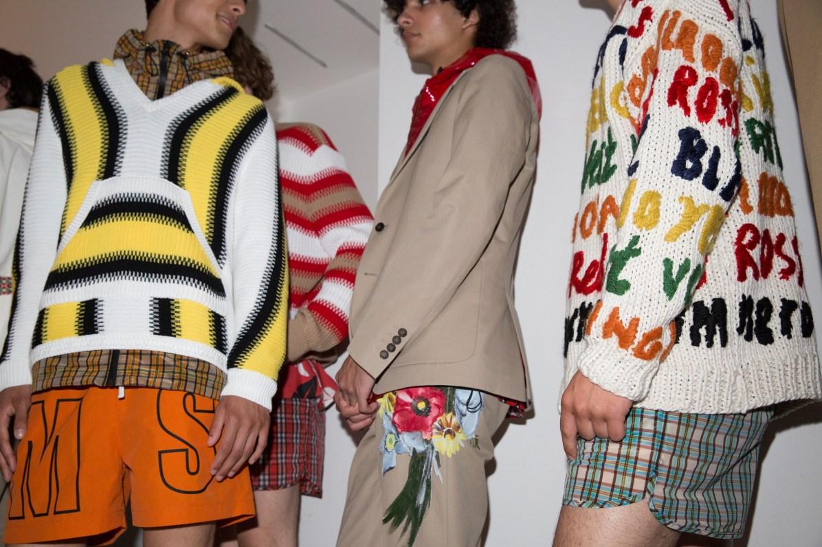 mens 2018 art trend msgm backstage