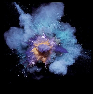 Paint Explosions, Purple on Blue, Another Man, 2005