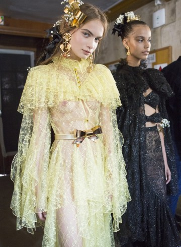 Rodarte Spring 2018 Fashion Show Backstage
