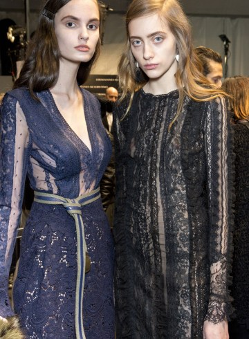 Ermanno Scervino Fall 2017 Fashion Show Backstage